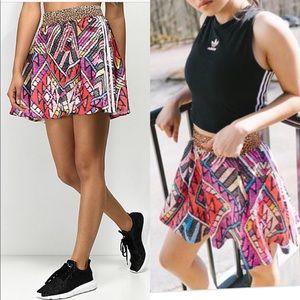 NWT Adidas Farm Skirt Leopard Tribal Print S